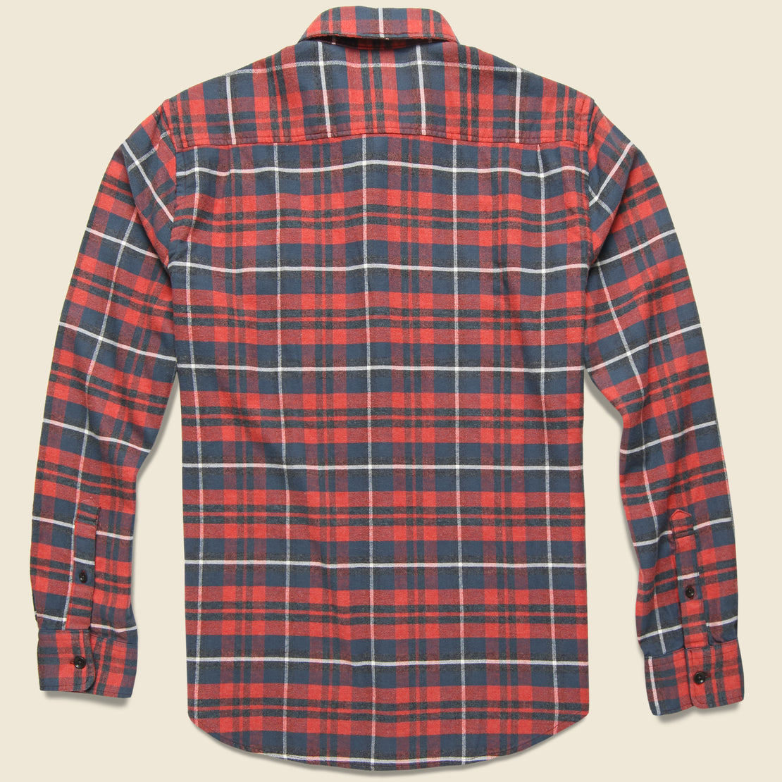 Stretch Seaview Shirt - Red/Charcoal/Grey