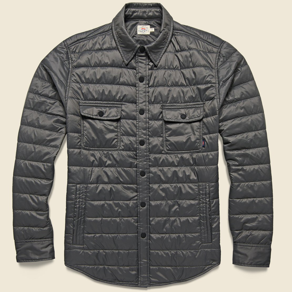 Faherty Atmosphere Shirt Jacket - Grey