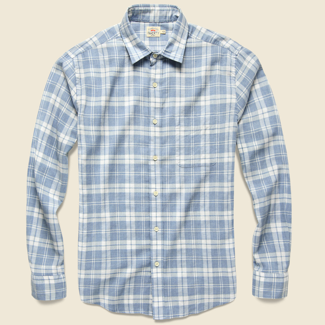 Faherty Ventura Shirt - Steel Heather Plaid