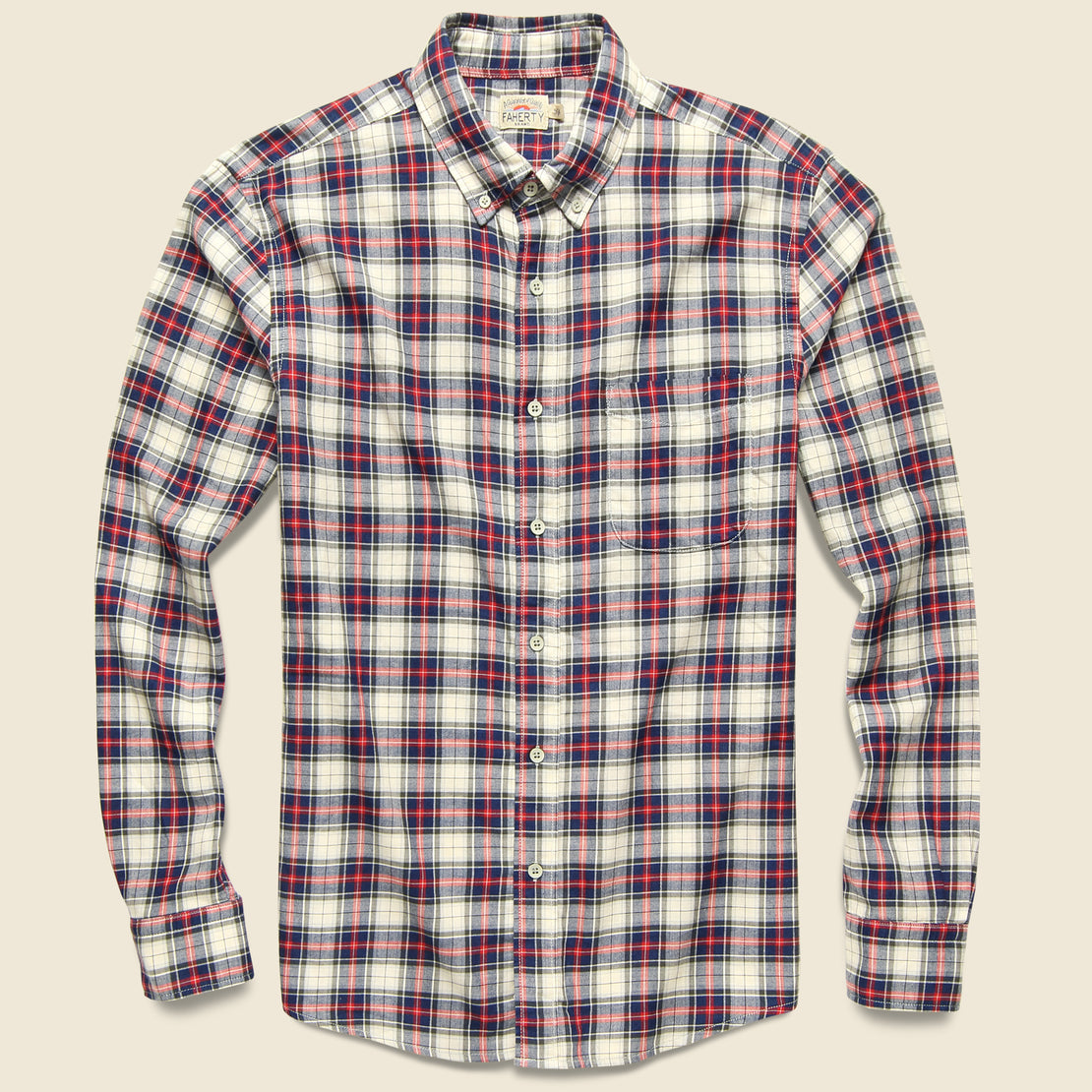 Faherty Brushed Everyday Shirt - Indigo Heritage Tartan