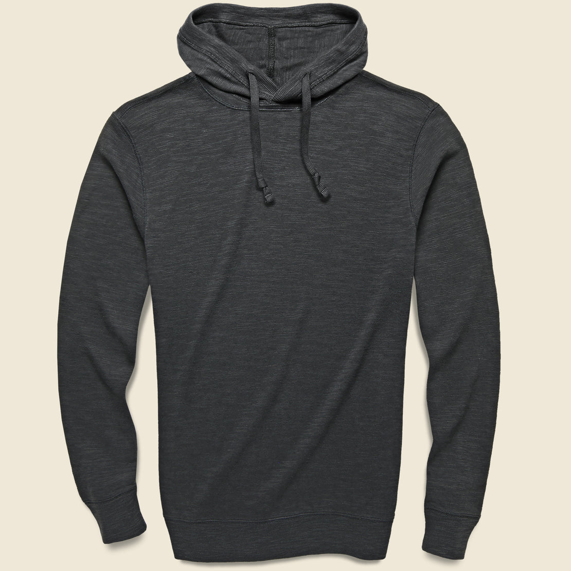 Faherty Slub Cotton Hoodie - Graphite