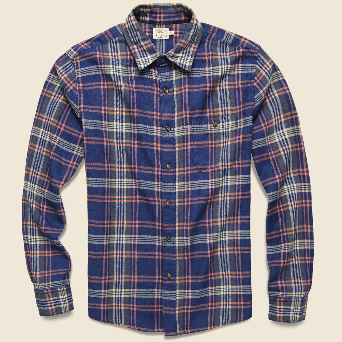 Faherty Stretch Seaview Flannel - Cardiff Plaid