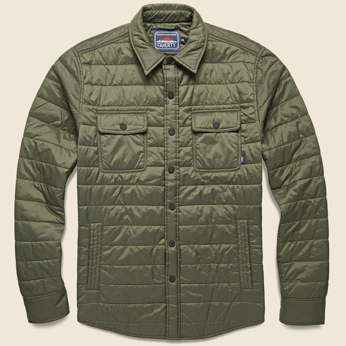 Faherty Atmosphere Shirt Jacket - Olive