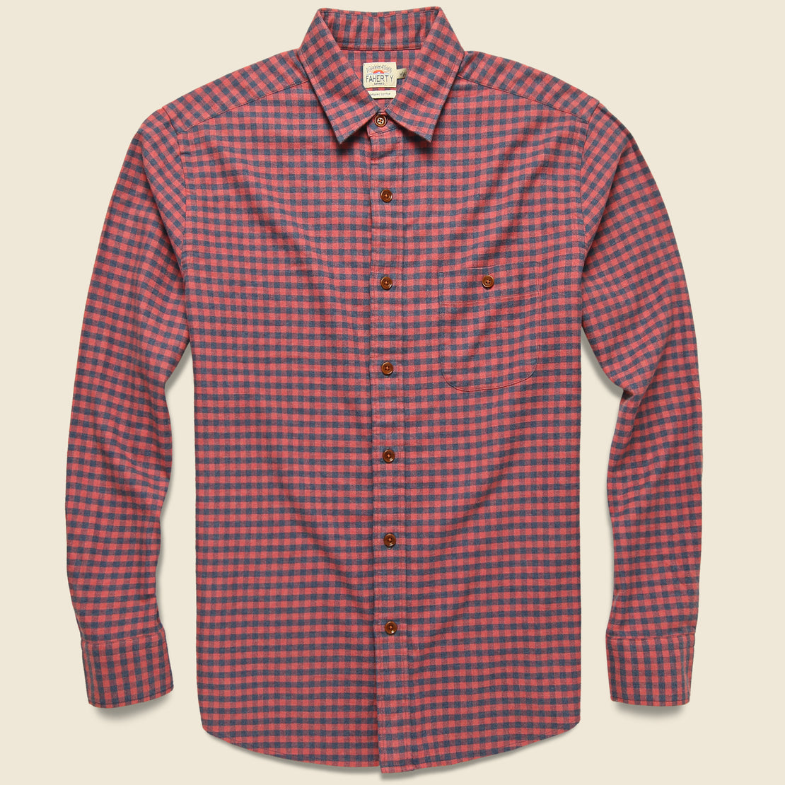 Faherty Stretch Seaview Flannel - Blue Rose Gingham