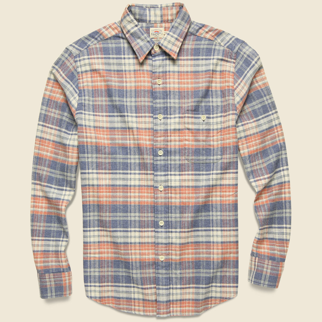 Faherty Stretch Seaview Flannel - Autumn Plaid