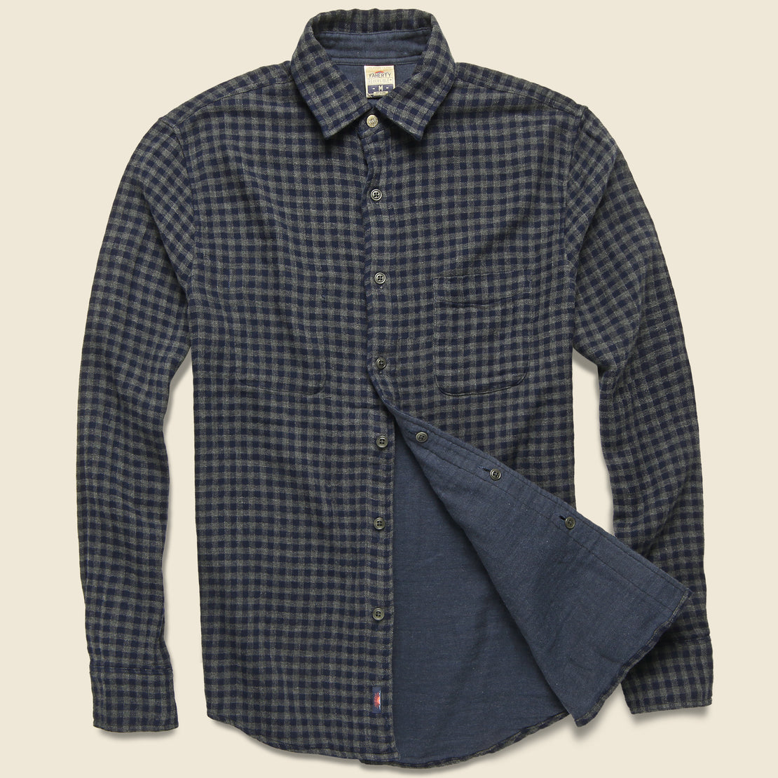 Faherty Belmar Workshirt - Charcoal Navy Check