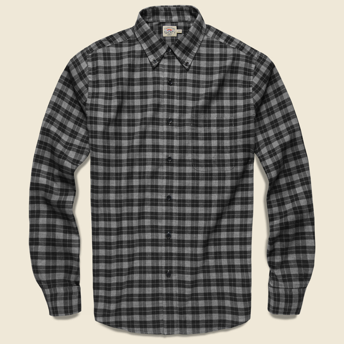 Faherty Everyday Shirt - Grey Charcoal Gingham