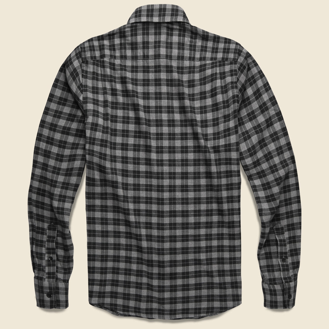 Everyday Shirt - Grey Charcoal Gingham
