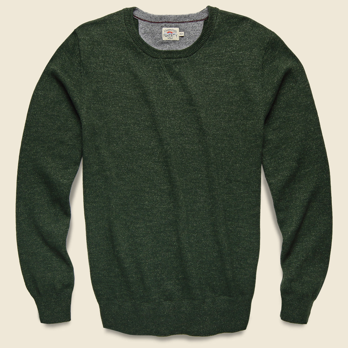 Faherty Sconset Crew Sweater - Spruce Heather