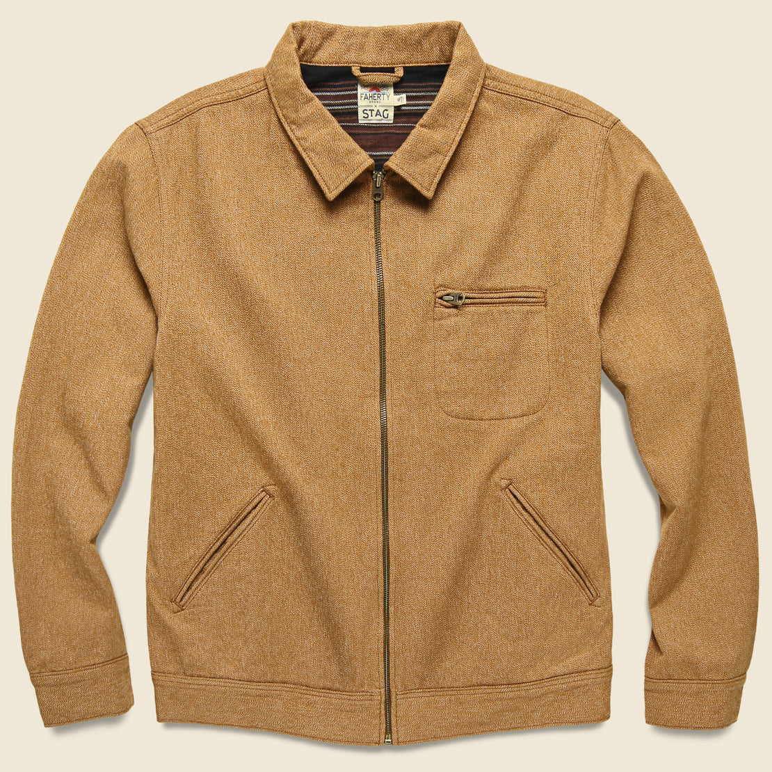 Faherty Asbury Jacket - Saddle Brown