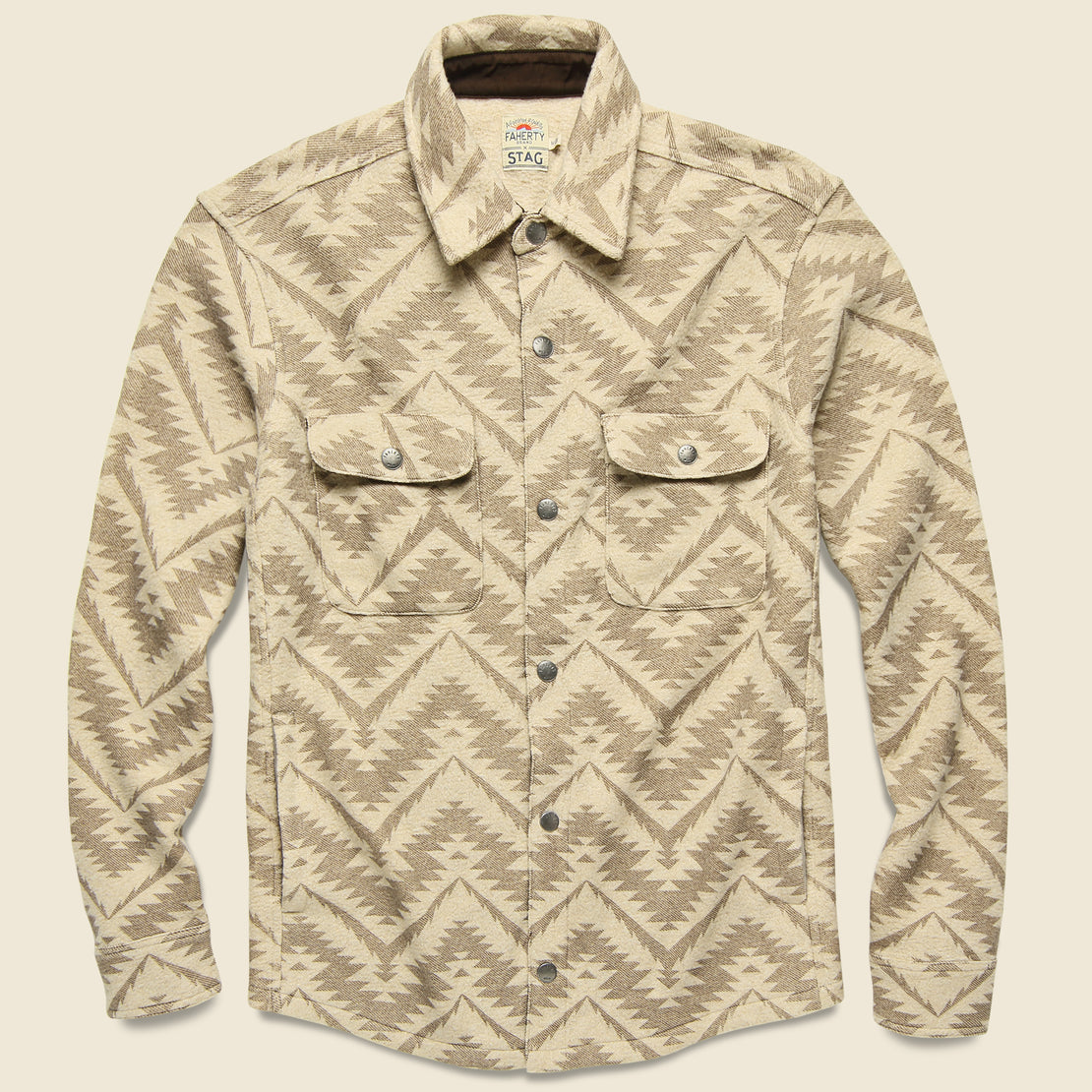 Faherty Monument Valley CPO Jacket - Sandstone