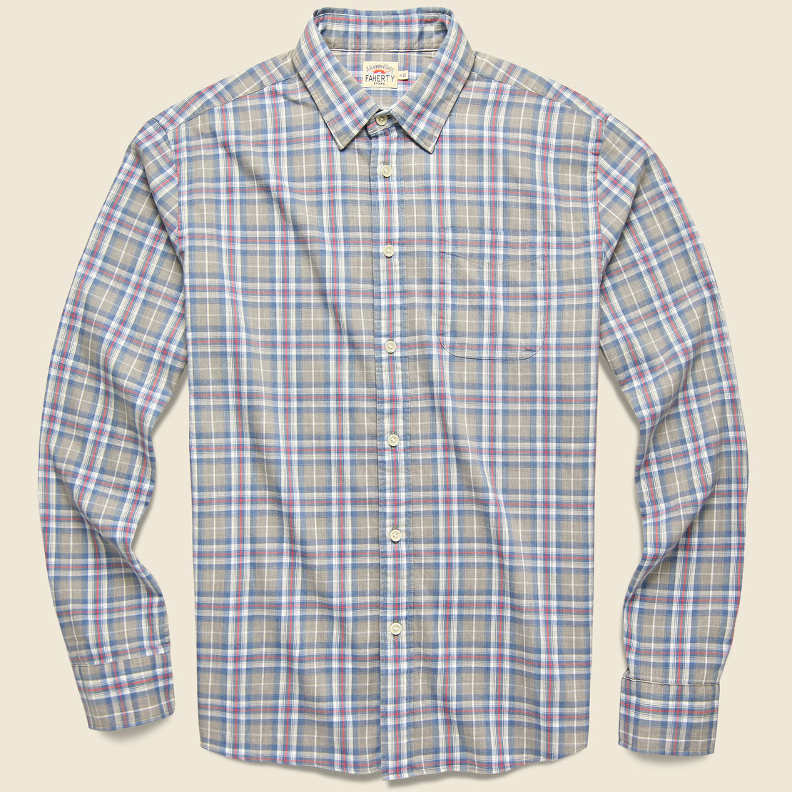 Faherty Movement Melange Shirt - Monterey Plaid