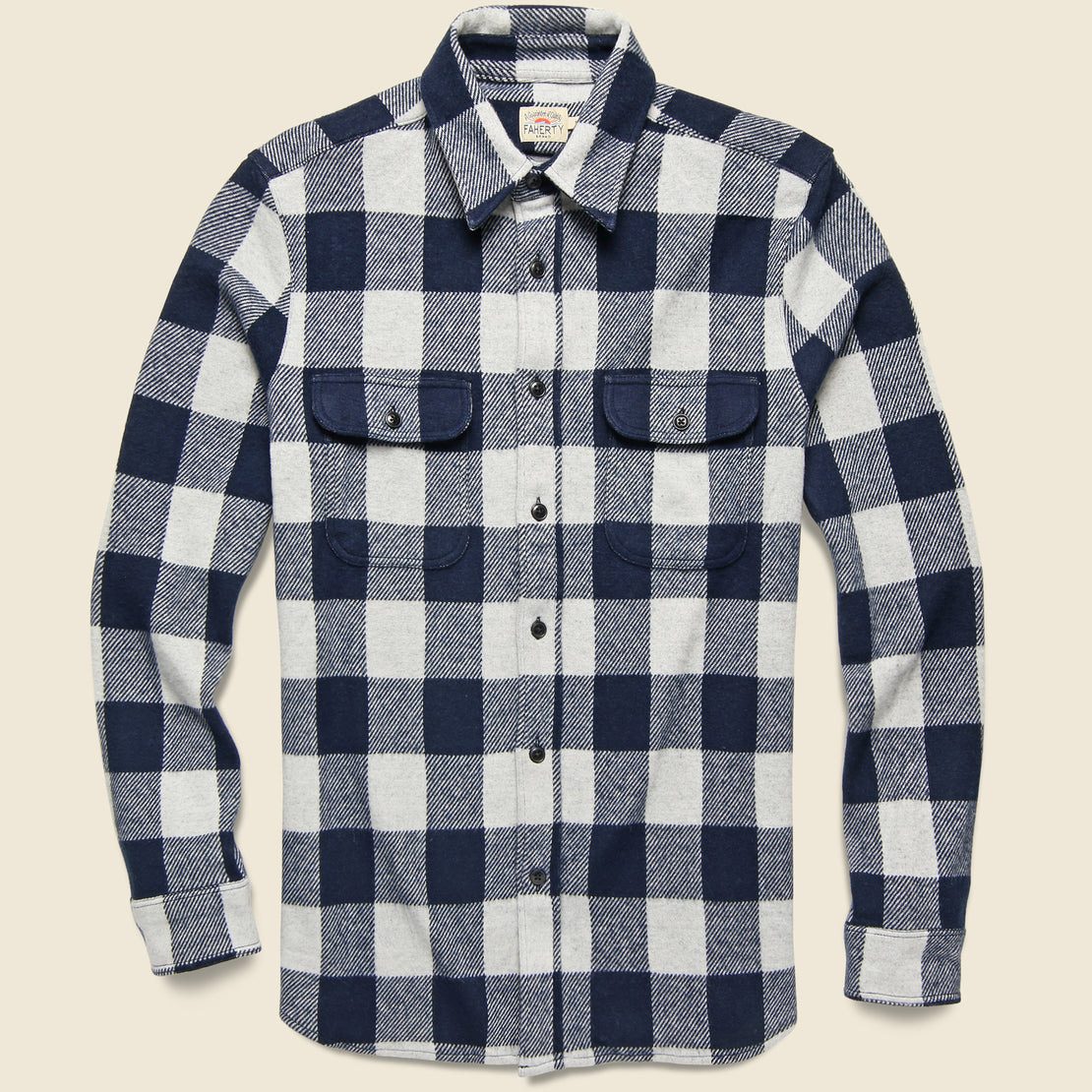 Faherty Legend Sweater Shirt - Arctic Buffalo