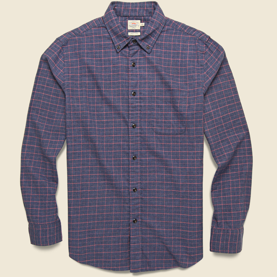 Faherty Stretch Featherweight Flannel Shirt - Hayes Check