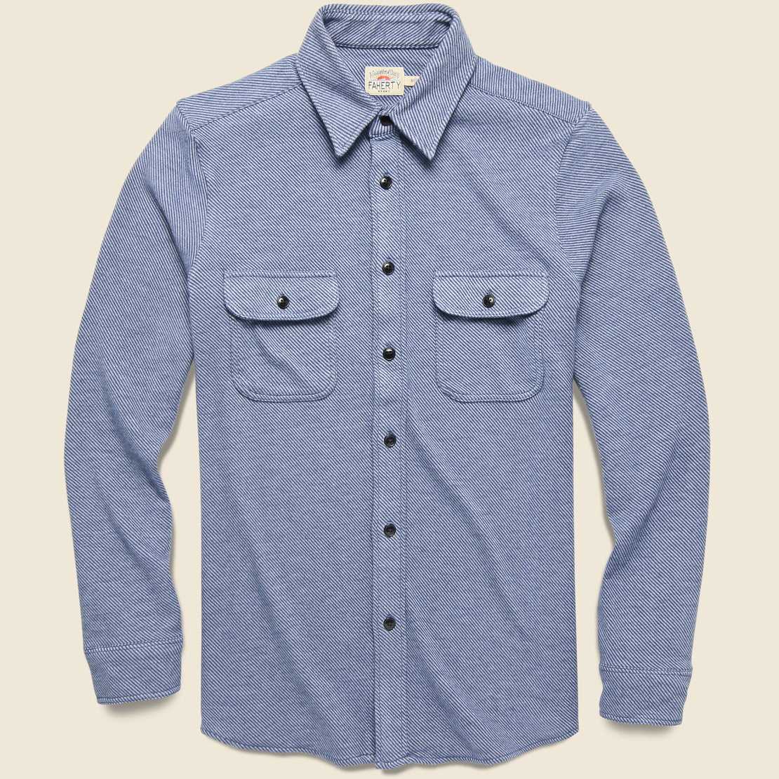 Faherty Legend Sweater Shirt - Washed Blue