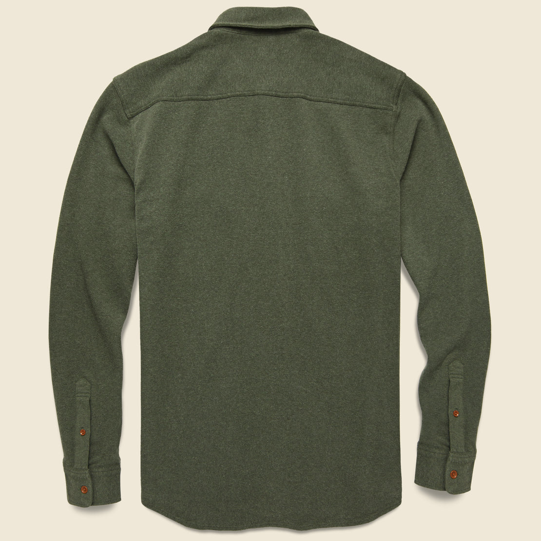 Knit Alpine Flannel - Olive Heather