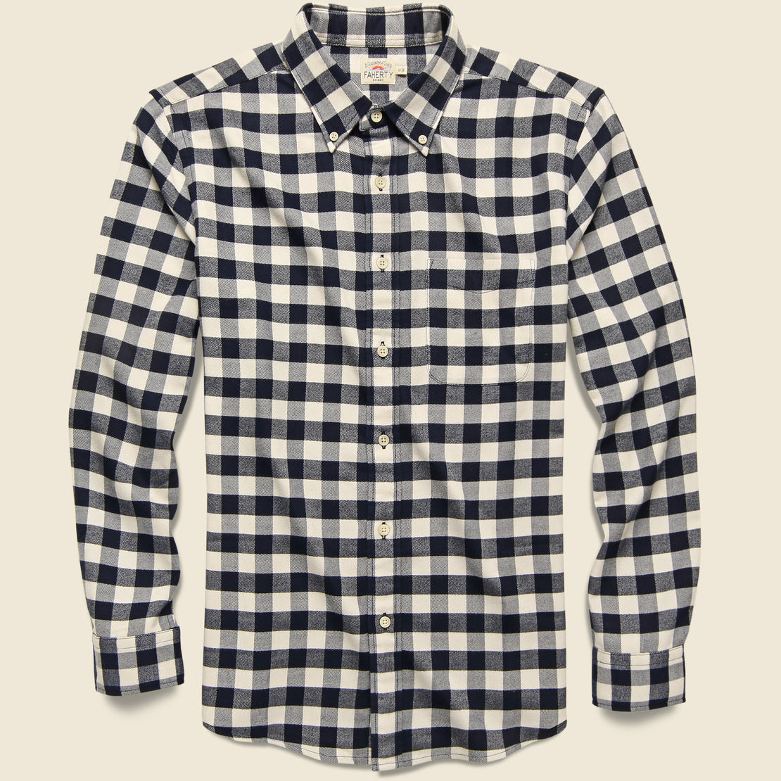 Faherty Legend Woven Shirt - Cream Tahoe Check