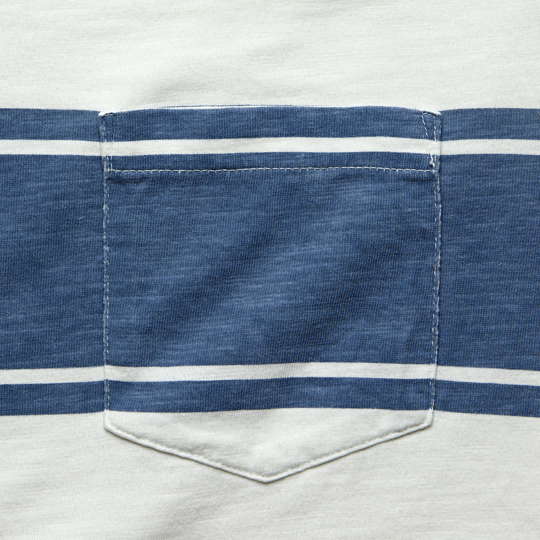 Surf Stripe Pocket Tee - White/Blue