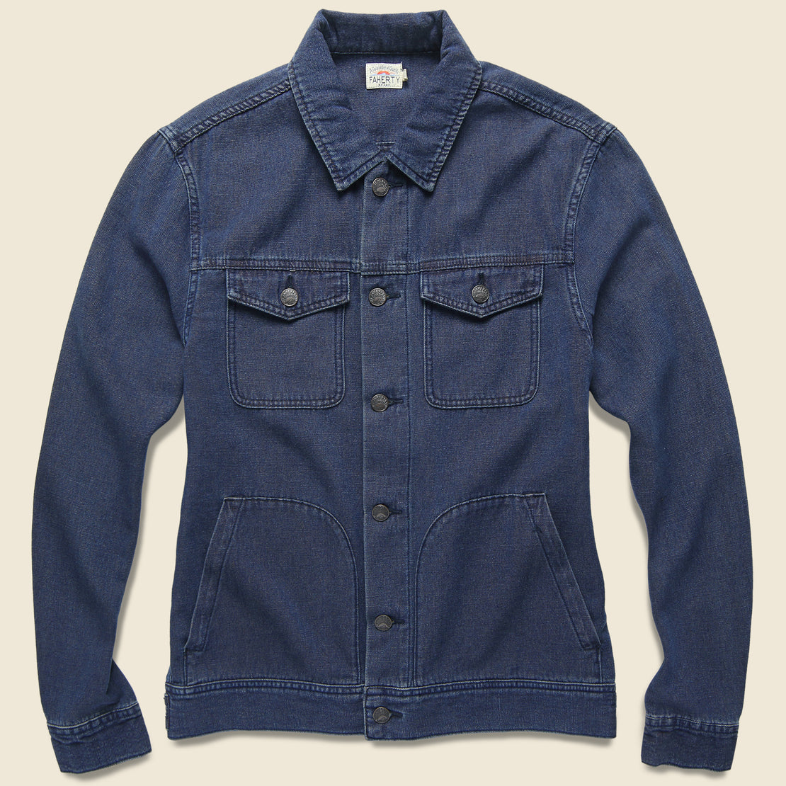 Faherty Route 80 Jacket - Indigo