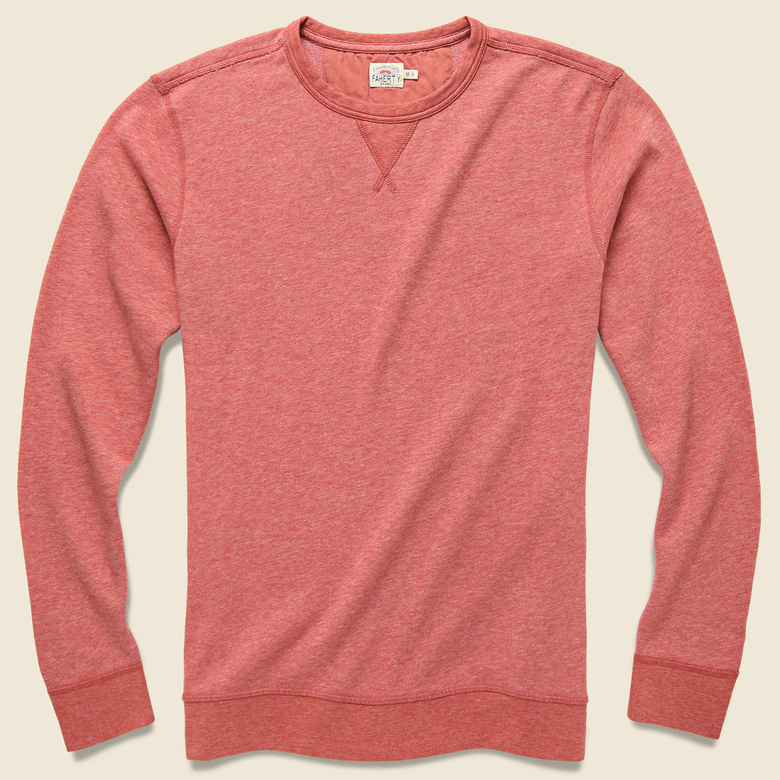 Faherty French Terry Crewneck - Faded Red