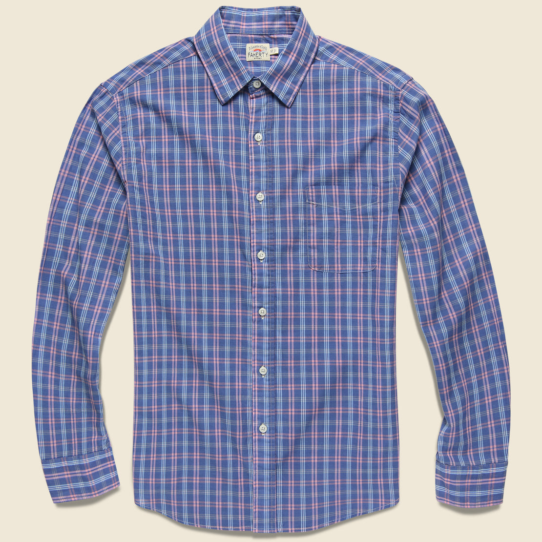 Faherty Ventura Shirt - Chambray Blue Plaid