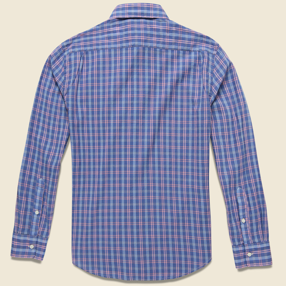 Ventura Shirt - Chambray Blue Plaid