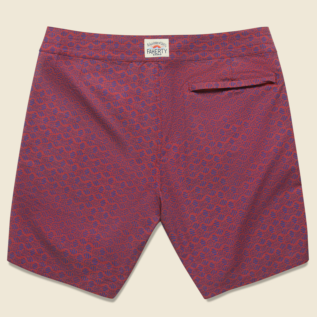 "Classic 7"" Boardshort - Etched Circle Red"