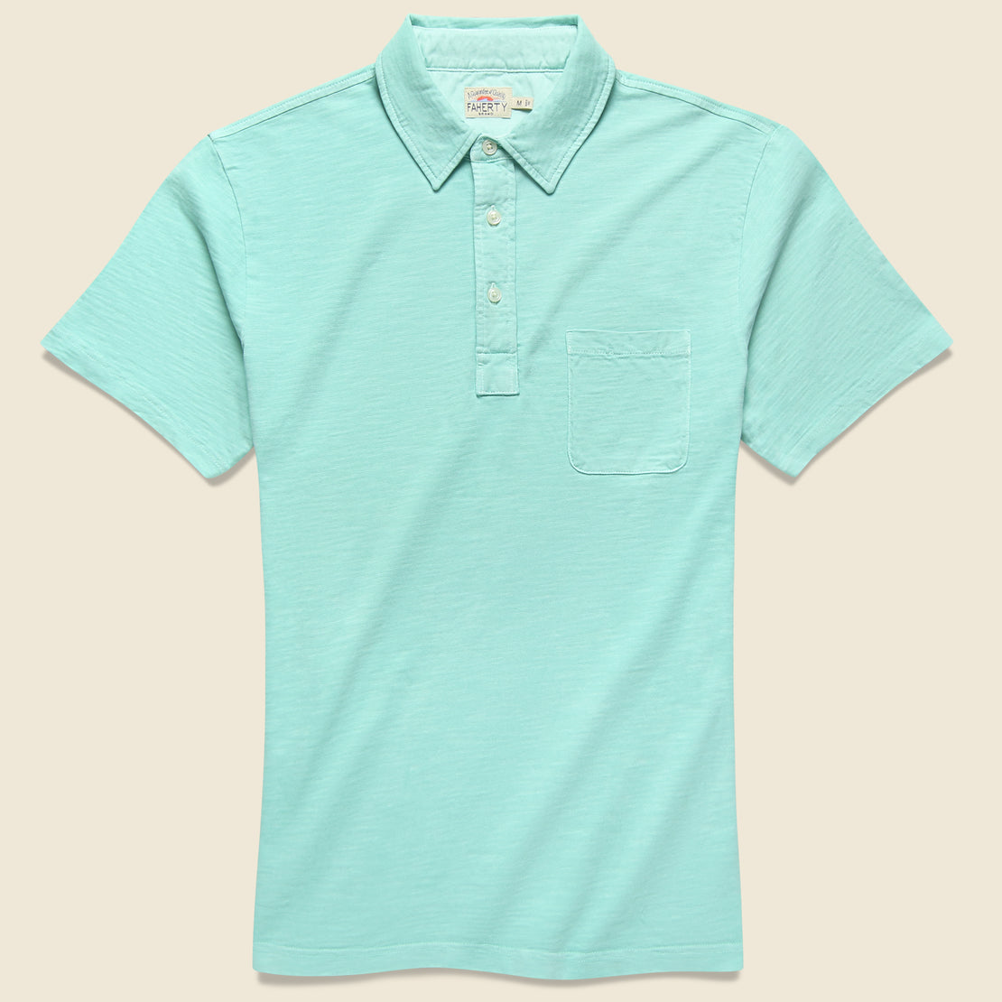 Faherty Garment Dyed Polo Shirt - Water Blue