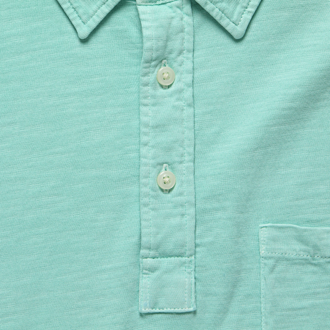 Garment Dyed Polo Shirt - Water Blue