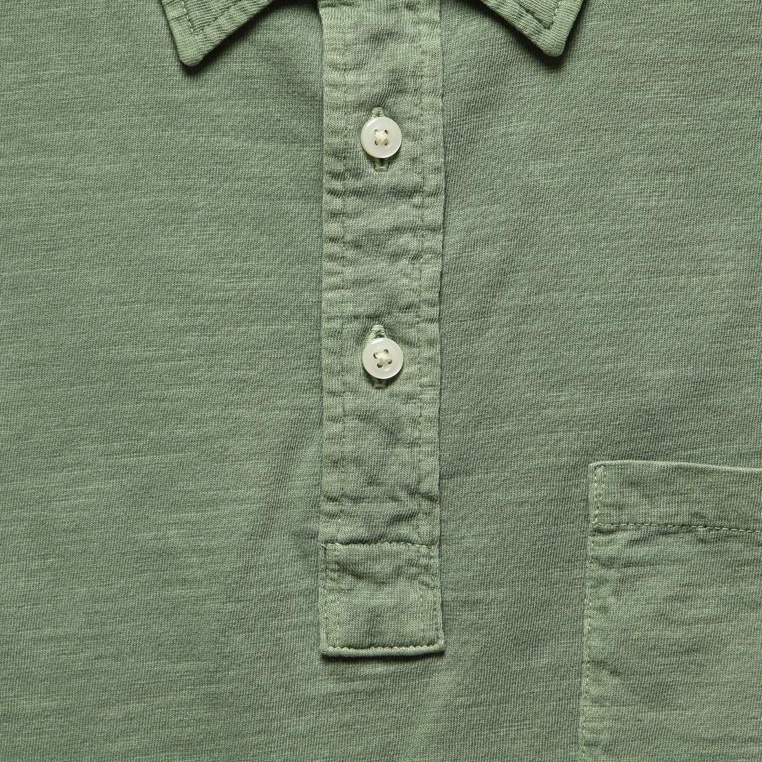 Garment Dyed Polo Shirt - Spring Olive
