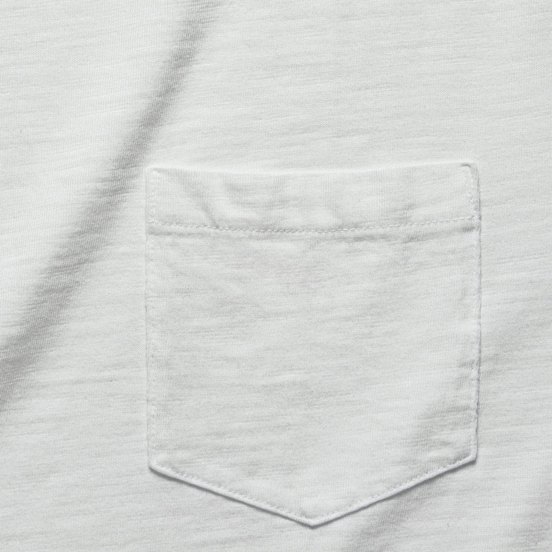 Garment Dye Pocket Tee - White
