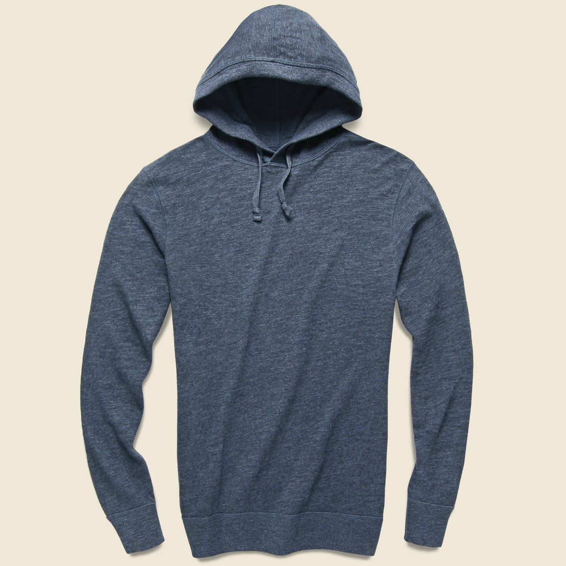 Faherty Slub Cotton Hoodie - Navy Heather