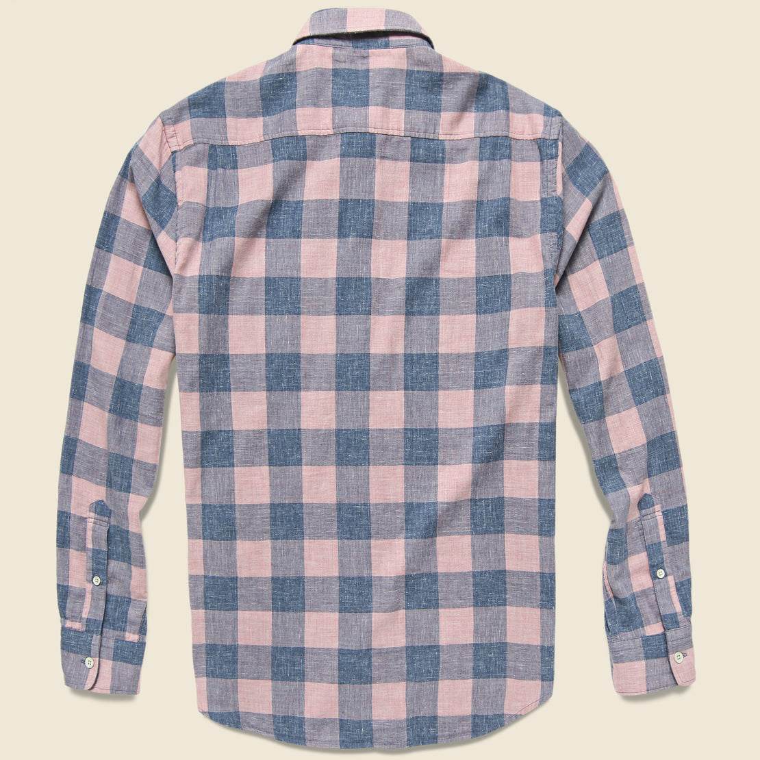 Doublecloth Seaview Shirt - Rose Buffalo Check