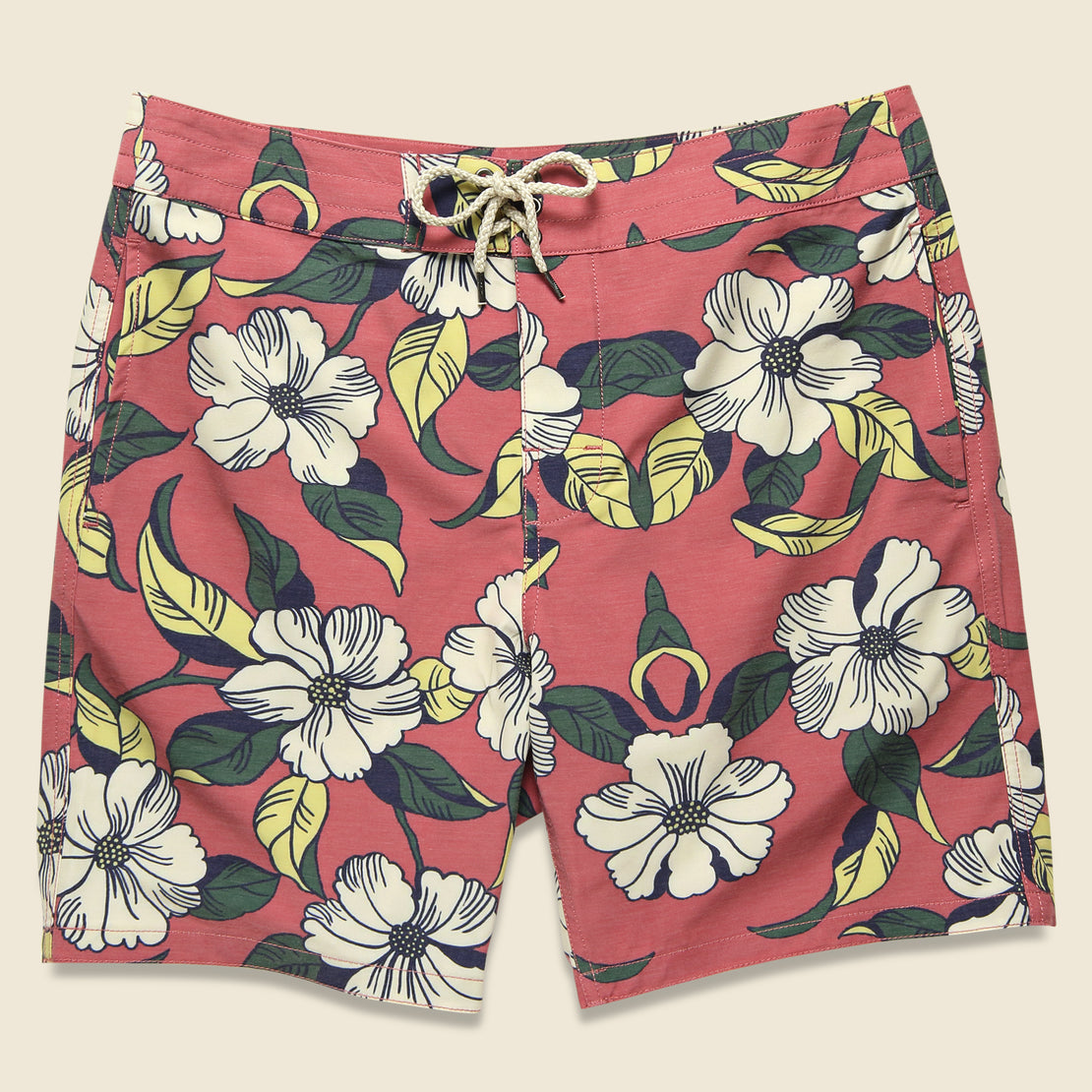 "Faherty Classic 7"" Boardshort - Red Retro"