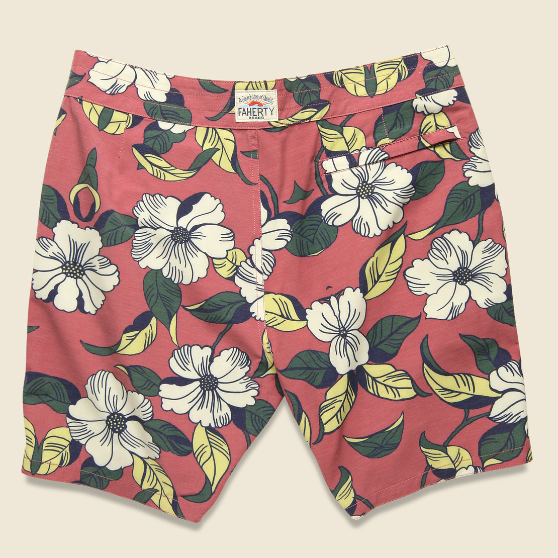 "Classic 7"" Boardshort - Red Retro"