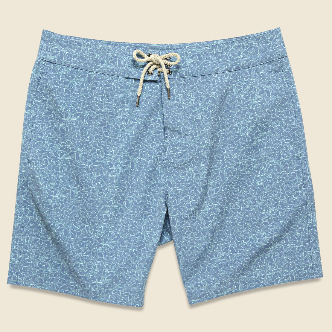 "Faherty Classic 7"" Boardshort - Teal Ivy"