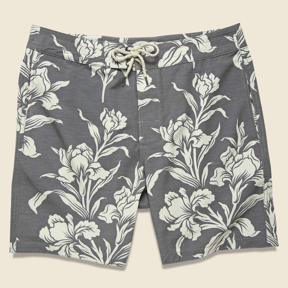 "Faherty Classic 7"" Boardshort - Black Floral"