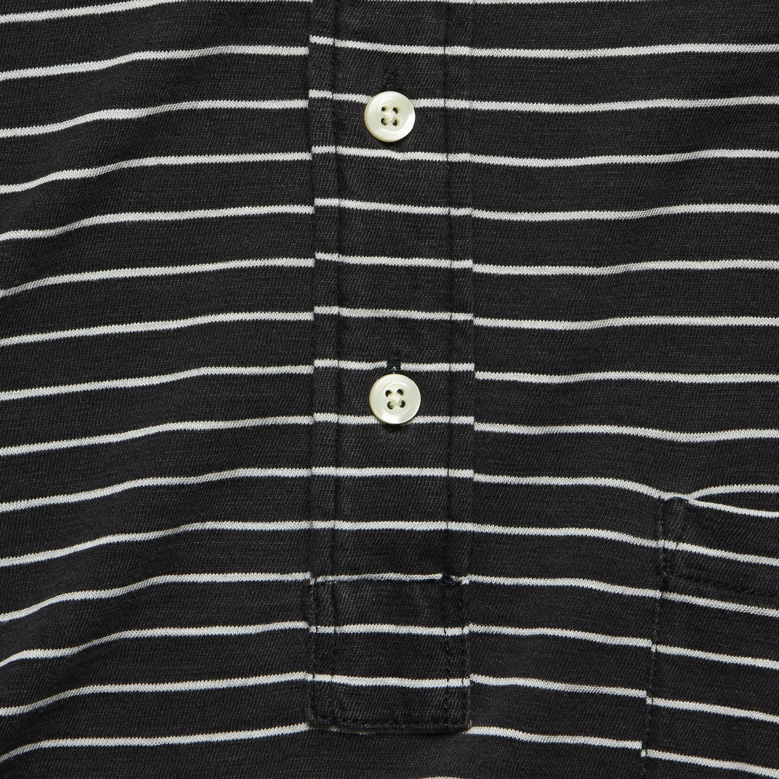 Jersey Beach Polo - Black/White