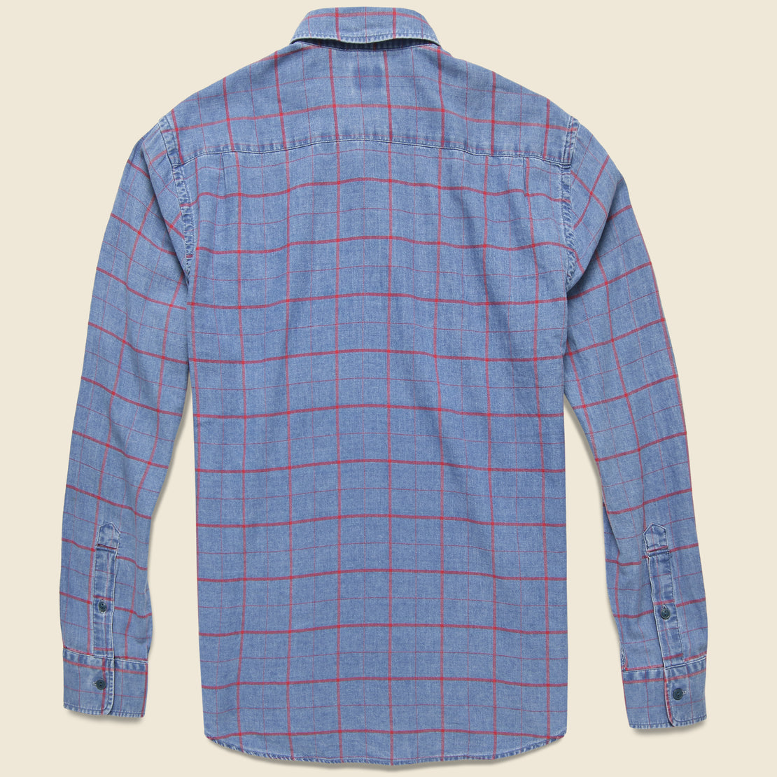 Ventura Shirt - Washed Red Windowpane