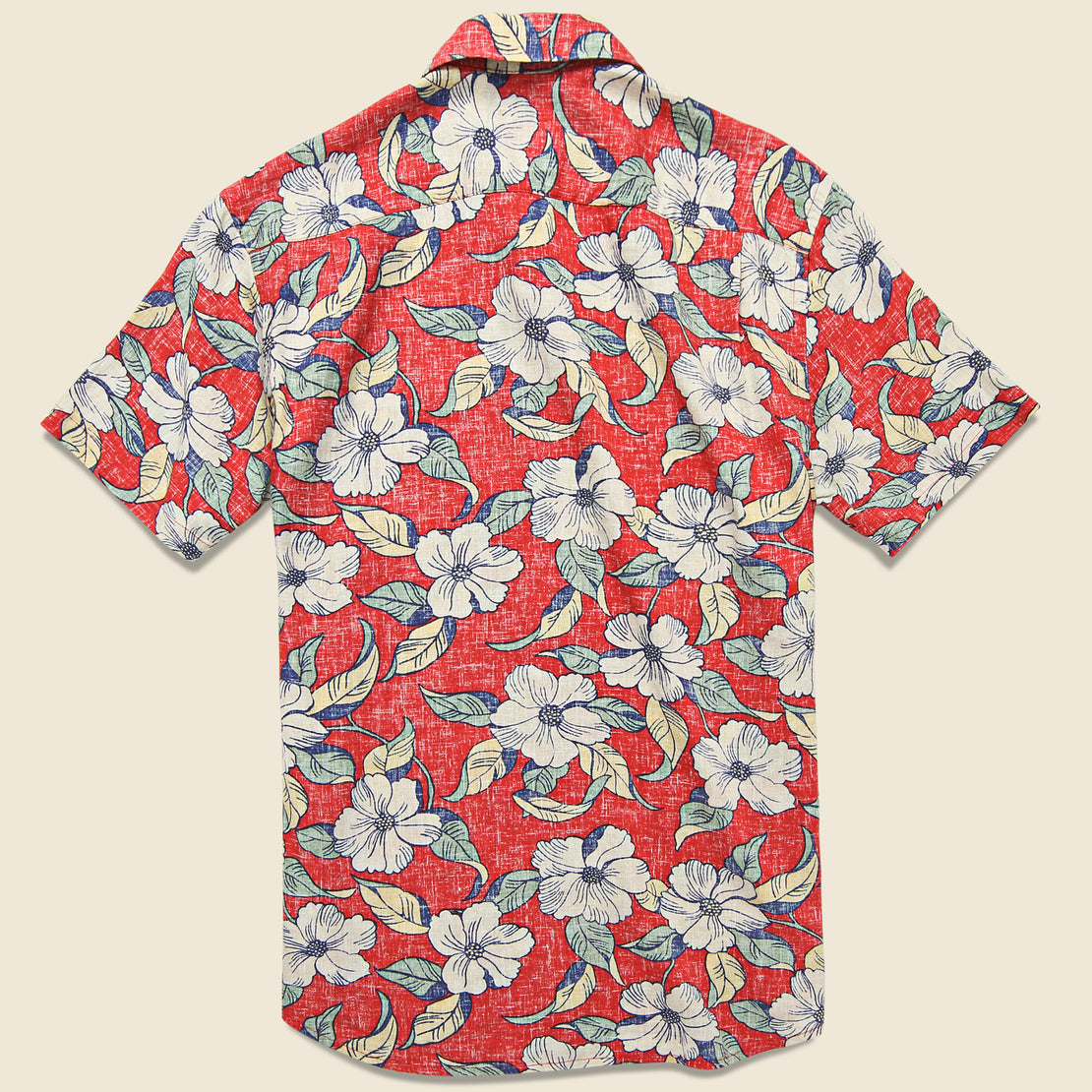 Reverse Print Coast Shirt - Red Retro