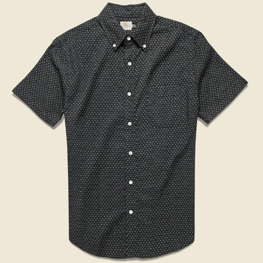 Faherty Pacific Shirt - Black Fleck