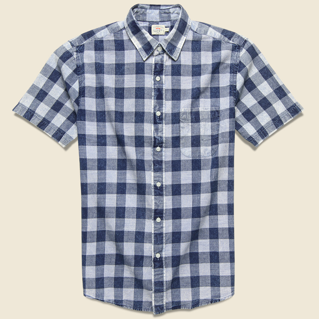 Faherty Ventura Shirt - Workwear Buffalo Blue