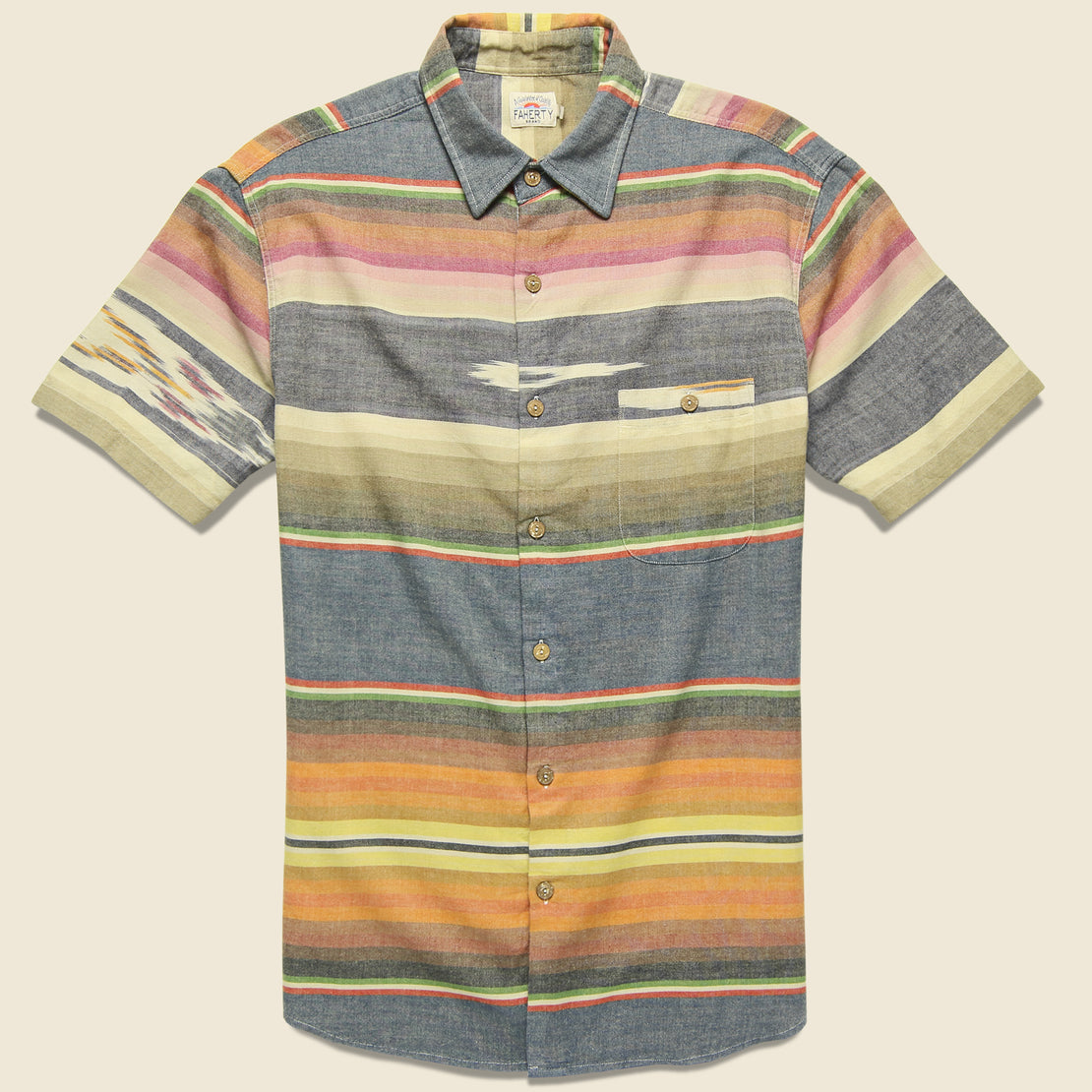 Faherty Ikat Coast Shirt - Multi