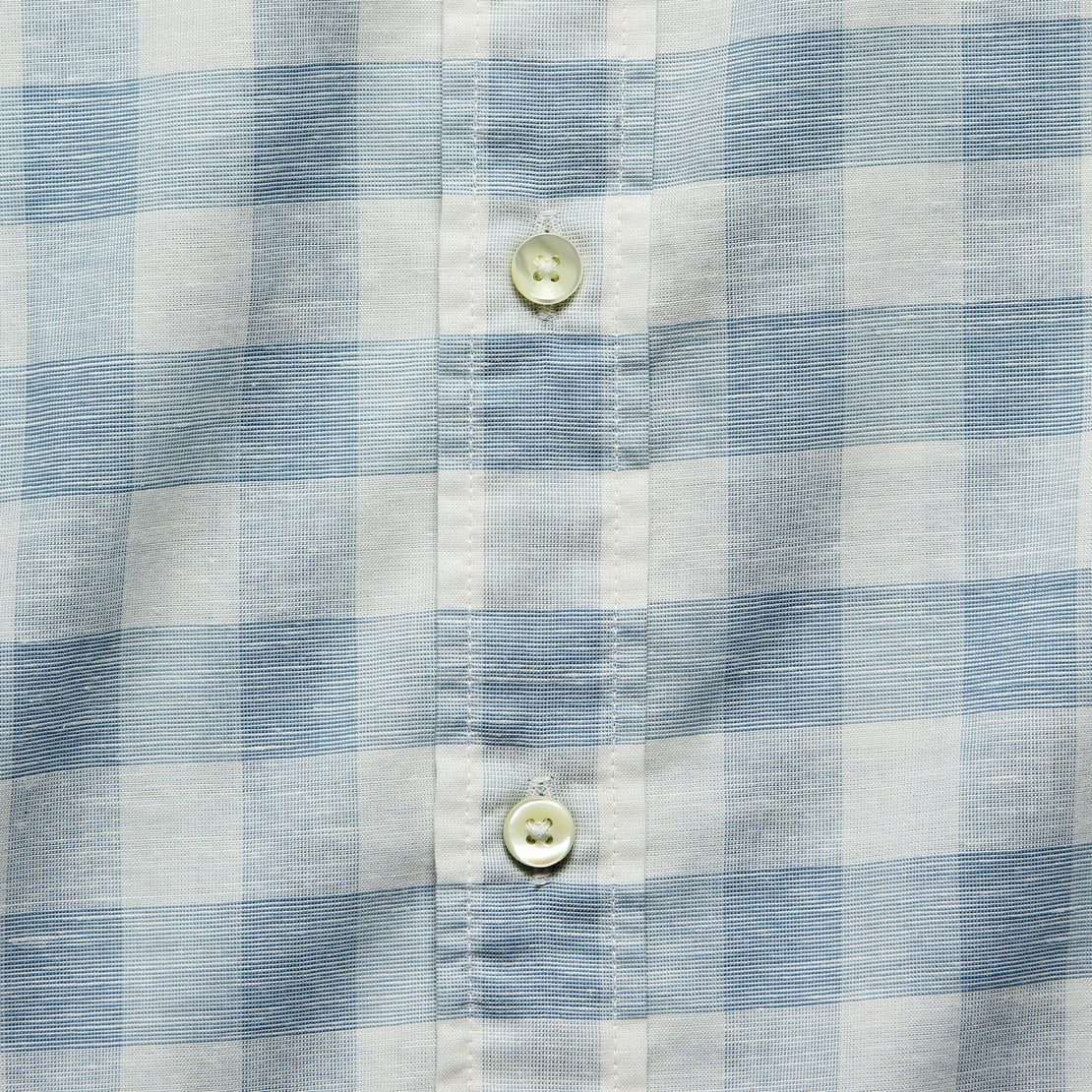Stretch Summer Blend Shirt - White Blue Buffalo