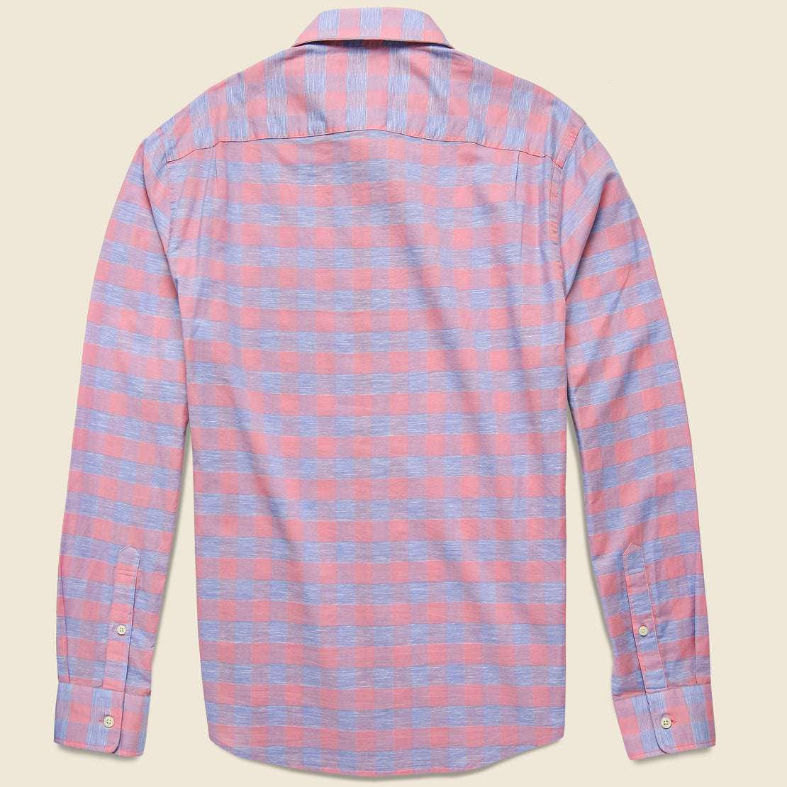 Stretch Summer Blend Shirt - Rose Buffalo Check