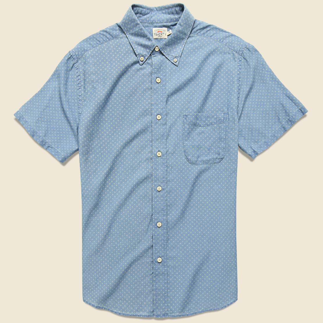 Faherty Pacific Shirt - Indigo Sunburst