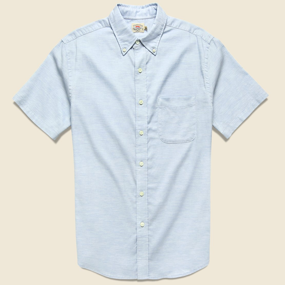 Faherty Stretch Oxford Shirt - Washed Blue