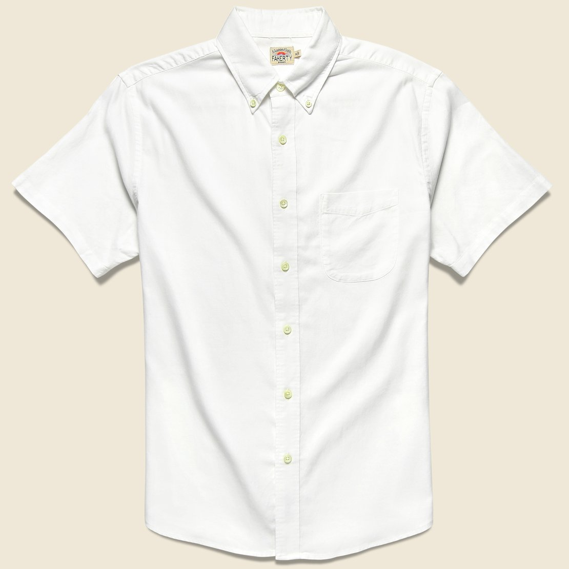 Faherty Stretch Oxford Shirt - White