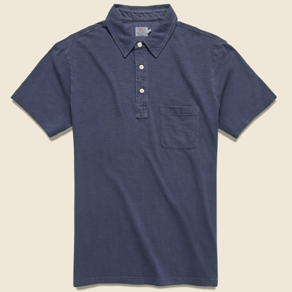 Faherty Garment Dyed Polo - Navy