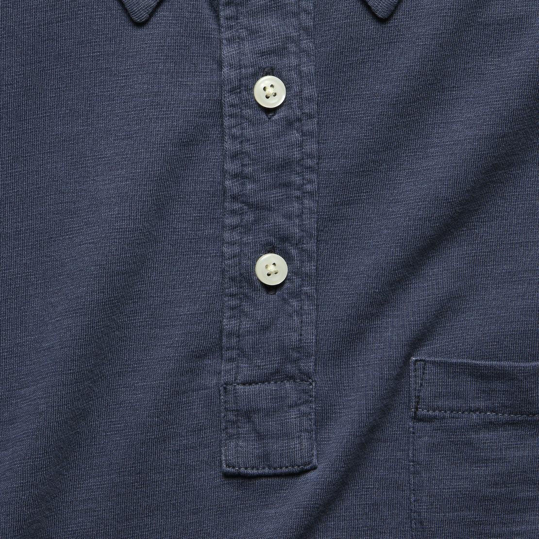 Garment Dyed Polo - Navy